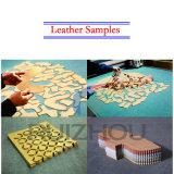 Calçado de couro, luvas, amostras de sacos de máquina de corte de faca