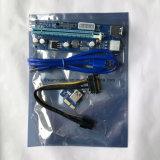 Bitcoin Mining 006c를 위한 6pin Power Cable를 가진 PCI-E Express Riser