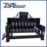 Máquina giratória de venda quente do router do CNC de 4 linhas centrais