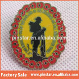 Pin Badge Cheap Promotional Items del papavero con Made Mold o Your Custom Design