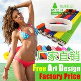 Wristband di gomma multicolore su ordinazione del silicone di vendita diretta della fabbrica tessuto