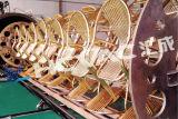 De horizontale Machine van de VacuümDeklaag PVD van het Titanium van het Meubilair van de Pijp van het Blad van het Roestvrij staal Gouden