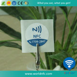 Kundenspezifisches Printing 13.56MHz Ntag 213 NFC Paper Sticker