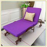 Het Draagbare Gevouwen Bed van Wholesales met Kleurrijke Matras 190*65cm