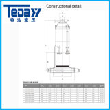 De Hydraulische Cilinder van de zuiger met de Certificatie van ISO