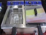 Sartén eléctrica de los tanques dobles para freír el alimento (GRT-E082B)