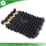 Высшее качество бразильского глубокую кривая естественного цвета Cuticle совмещены волос