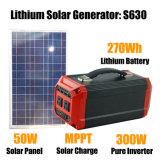 Backup 300W Home gerador de Sistema de Energia Solar Bateria recarregável de lítio