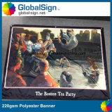 상해 Globalsign 최신 판매 승화에 의하여 인쇄되는 폴리에스테 기치 (DSP06)