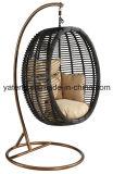 Гамак стула качания просто рамки PE-Ротанга Synthetick мебели сада конструкции Gental напольной алюминиевой сотка (YTA610)