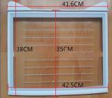 De aangemaakte Plank van de Koelkast van het Glas met het Gefrite Patroon van de PUNT Lijn