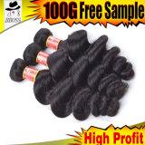 человеческие волосы 100% девственницы бразильянина a-Types 9A