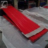 Revestido de color Prepainted PPGI Hoja de acero corrugado para tejados