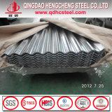 Tôle d'acier ondulée galvanisée par G60 en métal de toiture de fer de Hdgi