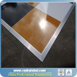 Plate-forme de bois 3 'X 3' Plate-forme de grain avec noyer, couleur noir et blanc