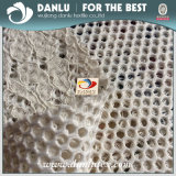 Полиэстер кружевной ткани клеевые сетчатый материал для Ladys износа