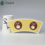 Hztl 22oz Printed Paper Cup Fan Sheet/PE/PLA Coated Paper Cup Sleeve per Making Coffee Cups