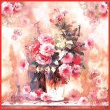 Impreso Digital de satén de seda bufanda para dama (12-BR050303-15)