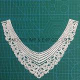 Collare accessorio del merletto del ricamo del nastro del tessuto di cotone dell'indumento della nappa del Crochet di modo