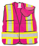 Casaco de segurança de alta visibilidade com ombro de fita mágica (DFV1083)