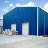 Vorfabrizierter heller Stahlkonstruktion-Rahmen bauen Lager zusammen