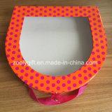 Kundenspezifischer geformter Papiergeschenk-Kasten mit freiem Belüftung-Fenster und Griff