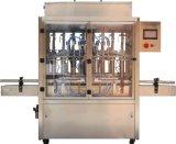 Goma automática de la botella y máquina de rellenar serva líquida