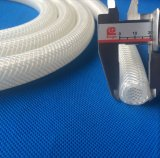 Boyau tressé de silicones de catégorie comestible, boyau de Reinforeced de silicones, boyau transparent de silicones sans odeur