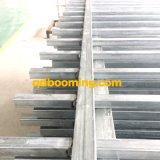 Clôture tubulaire en acier de garantie soudée par face de dessus plat
