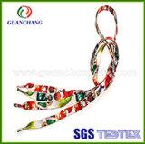 Custom nueva moda tejida tejido Multi Color impresas por sublimación de cordones plana Pulsera Charms con puntas plástico Venta al por mayor
