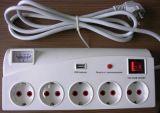 二重USBポート4のアウトレットのフランスの拡張電気ソケット
