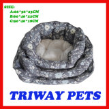 Hohe Quaulity preiswerte Snuggle-Hundekatze-Haustier-Betten (WY161074-5A/C)