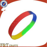 Wholesale Factory Custom Sport Colorful Silicone Bracelet (FTSB8251J)