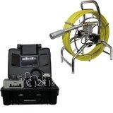 Sistema de Câmaras de Inspeção de encanamento de drenagem de tubos industriais, função de gravação auto-niveladora de DVR, medidor de medidor, cabo de 60m, 7mm