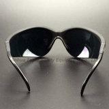 De UV Bescherming Gekleurde Bril van de Veiligheid van het Frame van de Lens Zwarte (SG107)