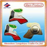 Épinglettes Électriques Emails Émaillés Étiquette de collet magnétique Étoile de souvenir de la fête nationale du Moyen-Orient