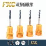 Fxc HRC45 3flutesの炭化物の正方形の炭化物の端製造所