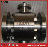 Forgé en acier inoxydable Flanged Tourillon Ball Valve (Q47F)