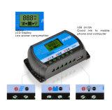 panneau solaire de 10A 12V/24V/contrôleur USB-5V/3A 24hours Rtd-10A de charge