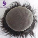 Toupee basso pieno della parte dei capelli dei capelli umani mono (TP27)