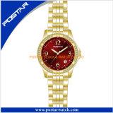 女性のための日本動きの水晶腕時計は品質を防水する