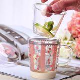 Il vetro di Borosilicate foggia a coppa le tazze con la tazza di vetro dell'acqua della tazza di tè di vetro di Infuser Pyrex
