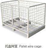 Jaula del acoplamiento de alambre de metal del almacén