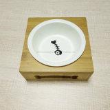 Cerâmica da fonte do animal de estimação e bacia do animal de estimação da madeira