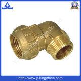 Instalación de tuberías española de la compresión de cobre amarillo del codo (YD-6044)