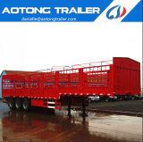 Remorque fonctionnelle de barre de Chambre de mémoire de 3 essieux d'Aotong/de frontière de sécurité cargaison remorque semi pour le bétail et la volaille Australie