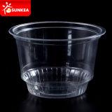 Напечатанная таможней ясная устранимая пластичная чашка мороженного/югурта