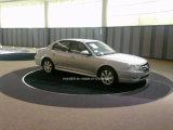 A rotação da plataforma giratória de automóveis com marcação para venda
