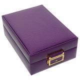 De doos van de Juwelen van het Leer Houten