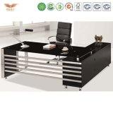 Metallrahmen-hölzerner Oberflächenspitzenstahlbüro-Computer-Tisch/Schreibtisch